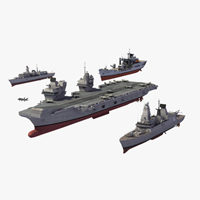 Royal Navy 3D model set