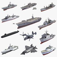 USNavy 3D model collection