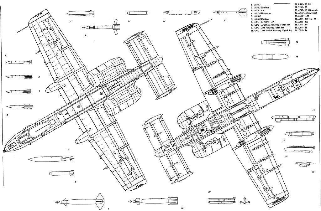 A 10 Thunderbolt Drawing Free vehicle blueprint...