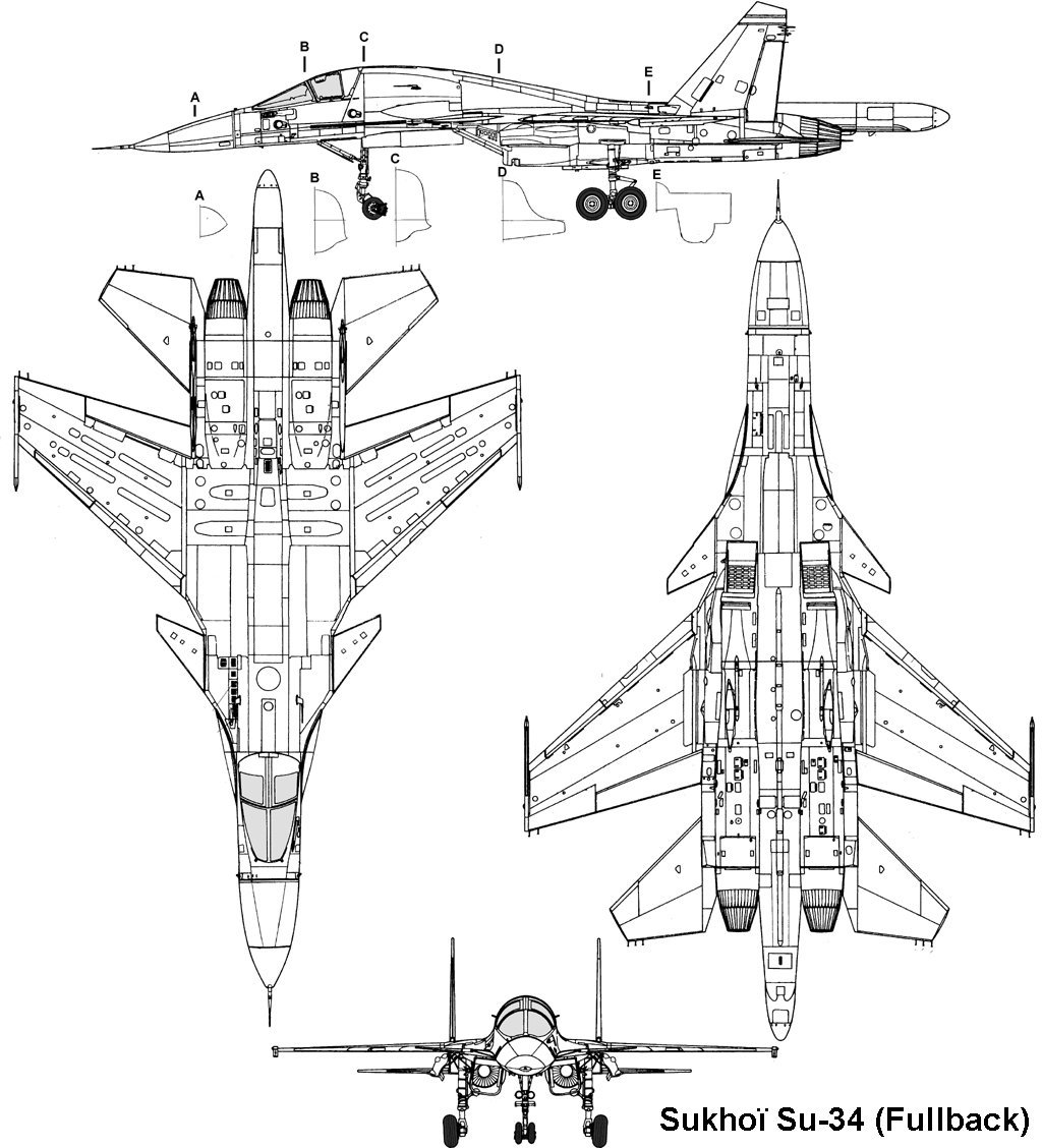 Free vehicle blueprints for cars tanks aircraft and trucks sukhoi su34 malvernweather Images